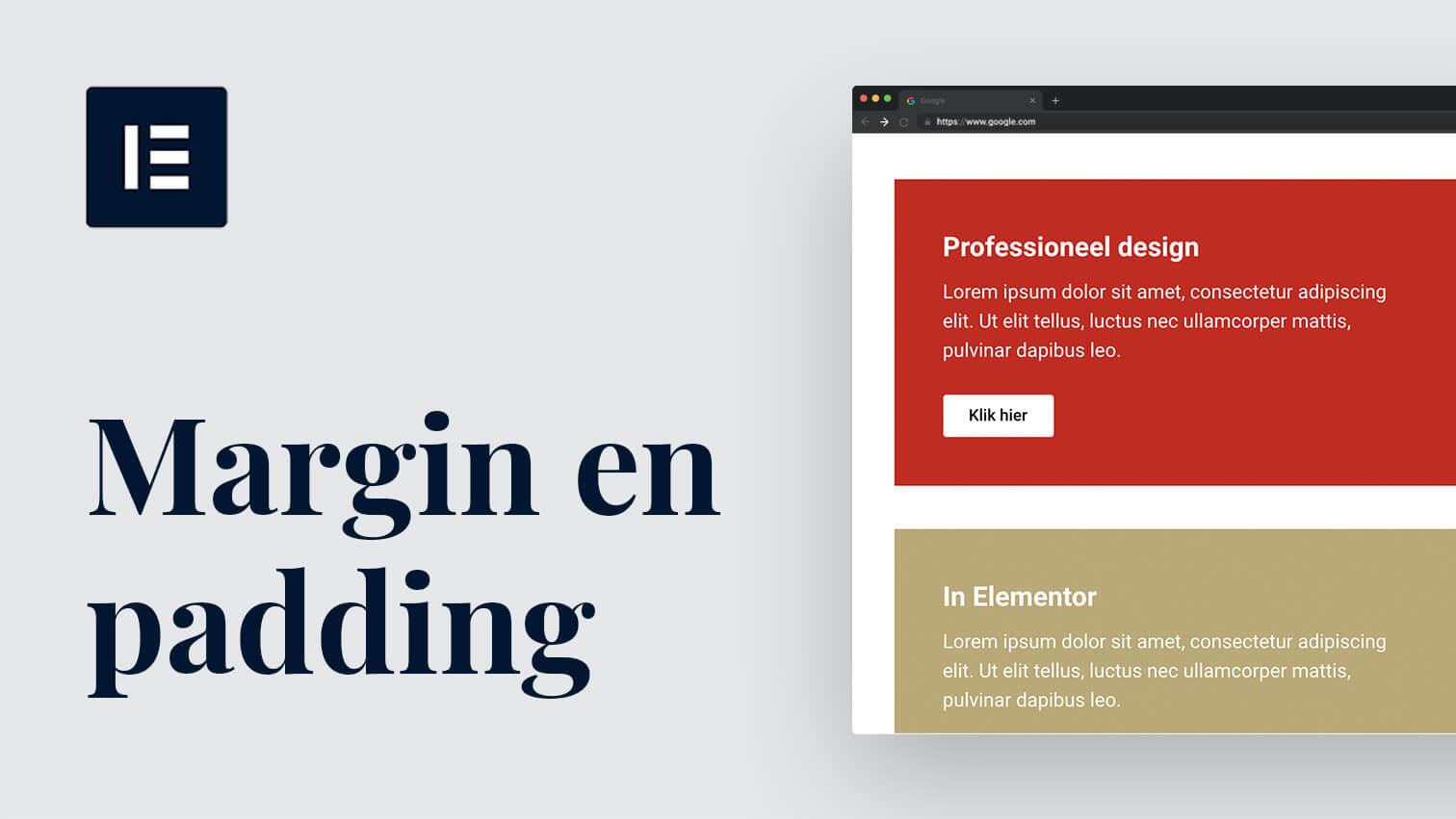 Van rommelig naar professioneel design met 2 instellingen